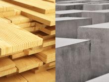 lemn vs beton